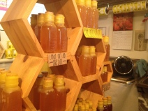 Sunny Honey Company display
